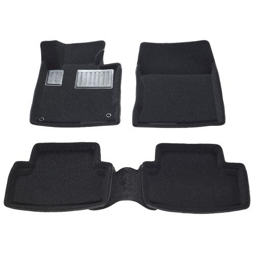Findway 3D Floor Mats for 2009-2014 Acura TSX Sedan/Sport Wagon (01050BB) - Black