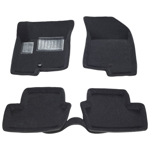 Findway 3D Car Floor Mats for 2007-2015 Jeep Patriot - Black (19040BB)
