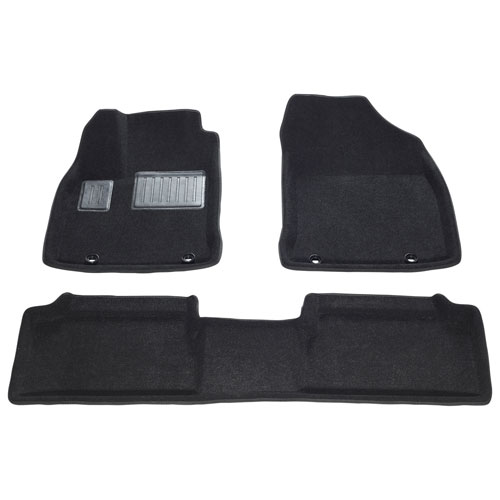 Findway 3D Floor Mats for 2011-2017 Lexus CT200h - (37160BB) - Black