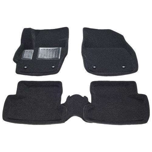 Findway 3D Floor Mats for 2010-2013 Mazda3 Sedan / Hatchback (40110BB) - Black