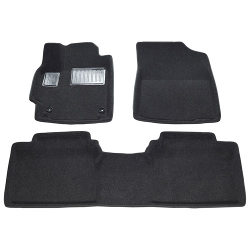 Findway 3D Floor Mats for 2007-2011 Toyota Camry (62040BB) - Black