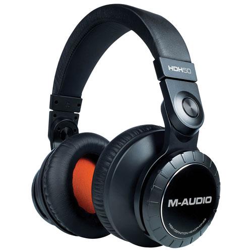 Casque d'écoute haute définition HDH50 de M-Audio - Noir - Orange