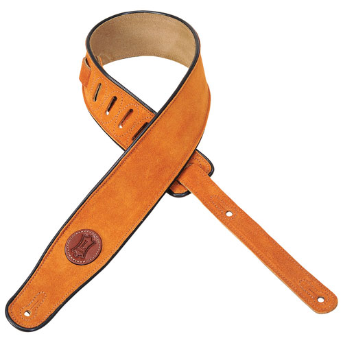 "Levy's Leathers Signature 2.5"" Suede Guitar Strap - Honey"