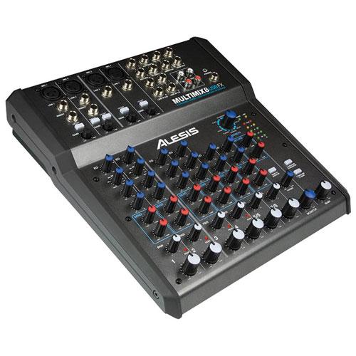 Console de mixage de bureau à 8 canaux MultiMix d'Alesis