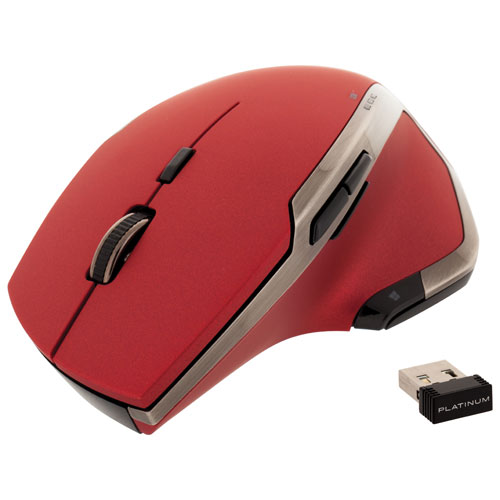 Platinum Wireless Laser Mouse - Red