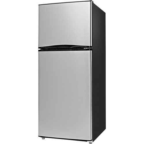 "Insignia 24"" 11.5 Cu. Ft. Top Freezer Refrigerator (NS-RTM12SS7-C) - Stainless Steel"
