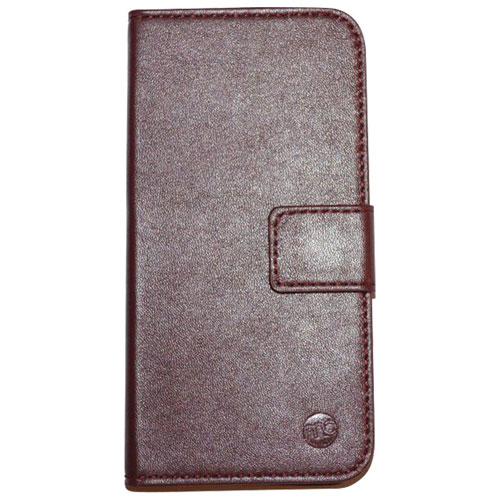 Moda iPhone 6/6s Leather Folio Case - Oxblood/Black