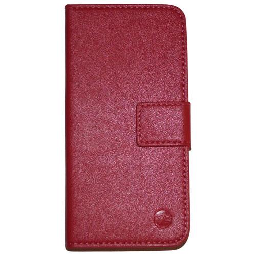 Étui folio en cuir de Moda pour iPhone 6/6s - Rouge - Crème