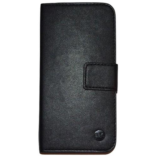 Moda iPhone 6/6s Leather Folio Case - Black/Tan