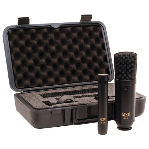 Ensemble avec microphone à condensateur d'enregistrement de MXL