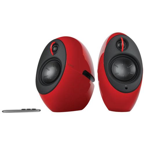 speakers best buy. edifier luna eclipse 2.0 channel bluetooth speaker - red speakers best buy r