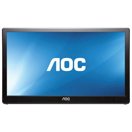 Moniteur DEL 15,6 po USB 3.0 portatif 8 ms gris à gris d'AOC (E1659FWU) - Noir