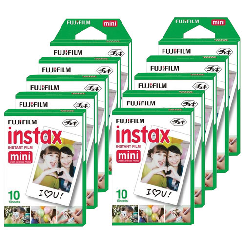 Pellicule Instax Mini de Fujifilm - 10 sachets