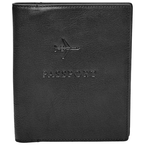 tui en cuir pour passeport de fossil noir tuis pour passeport best buy canada. Black Bedroom Furniture Sets. Home Design Ideas