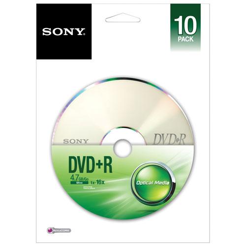 Sony 48X 4.7GB DVD+R - 10 Pack