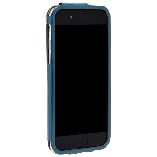 Fossil iPhone 6 Leather Fitted Hard Shell Case - Blue