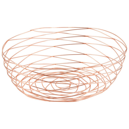 "Fable 12"" Wire Bowl - Rose Gold"