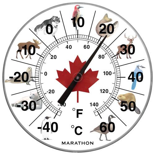 Thermom tre g ant de 12 po pour l 39 int rieur l 39 ext rieur de for Thermometre exterieur geant