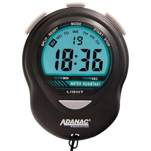 Marathon Precision Glow Digital Stopwatch - Black