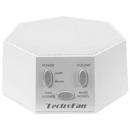 Lectrofan Noise Amp Fan Machine Asm1007 White Sleep