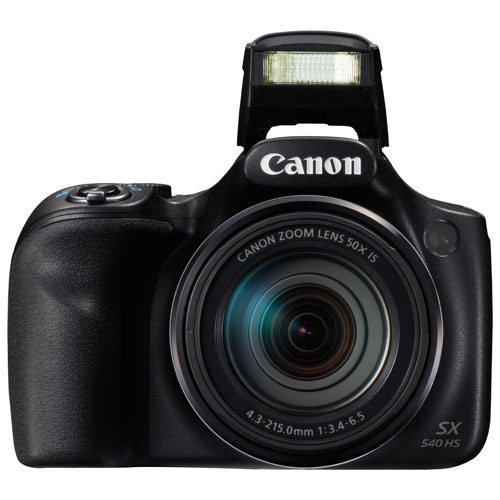 Canon PowerShot SX540 HS WiFi 20.3MP 50x Optical Zoom Digital Camera - Black
