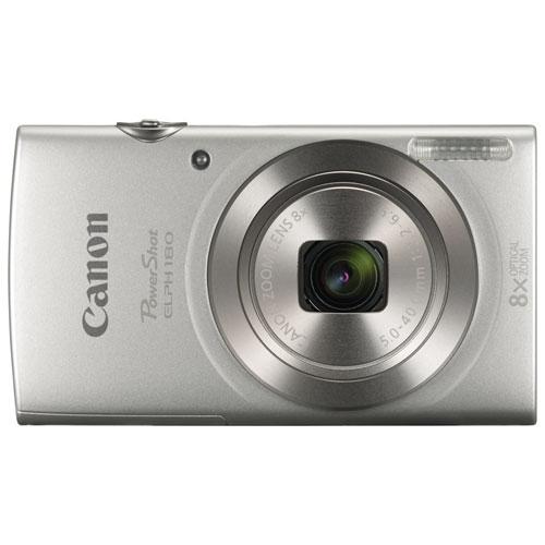 Canon PowerShot ELPH 180 20.0MP 8x Optical Zoom Digital Camera - Silver