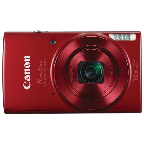 Canon PowerShot ELPH 190 IS WiFi 20.0MP 10x Optical Zoom Digital Camera - Red