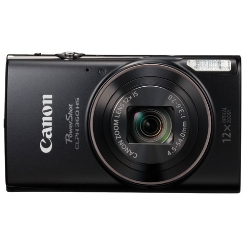 Canon PowerShot ELPH 360 HS WiFi 20.2MP 12x Optical Zoom Digital Camera 1075C001