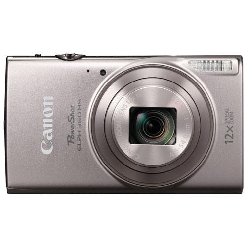 Appareil photo PowerShot ELPH 360 HS 20 Mpx avec Wi-Fi et zoom optique 12x de Canon - Argenté