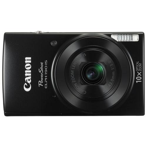 PowerShot ELPH 190 IS WiFi 20.0MP 10x Optical Zoom Digital Camera - Black