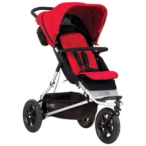 Mountain Buggy Plus One Stroller (2015) - Berry
