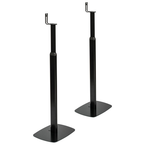 Flexson PLAY:1 Adjustable Floor Stand (FLXP1AS2021) - Set of 2 - Black