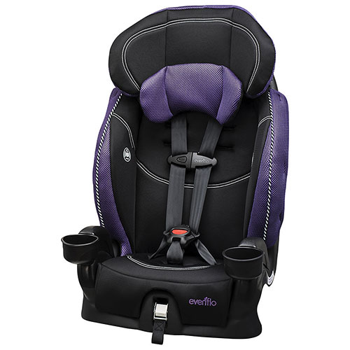 evenflo chase lx booster car seat purple black booster car seats best buy canada. Black Bedroom Furniture Sets. Home Design Ideas