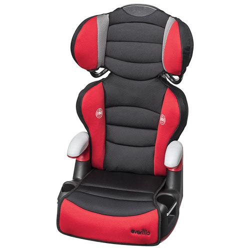 Evenflo Big Kid High Back Booster Car Seat - Black/ Red