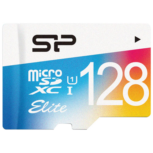 Silicon Power Elite 128 Gb 75 Mb/S Micro Sdxc Class 10 Uhs 1 Memory Card by Best Buy