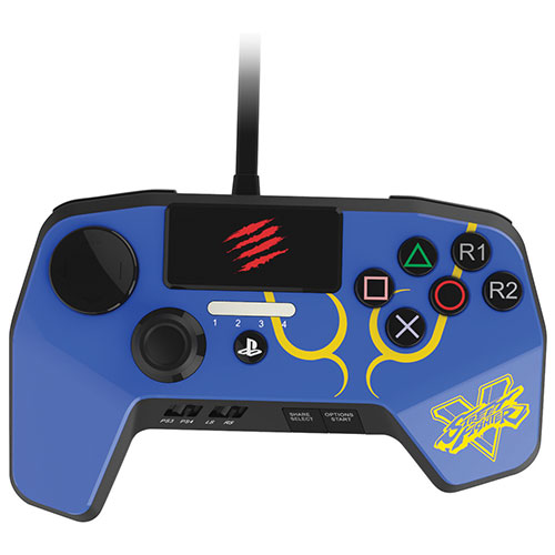 Mad catz street fighter v fightpad pro for ps3 ps4 blue for Housse manette ps4