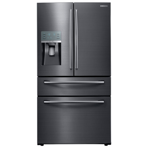 "Samsung 36"" 23.6 Cu. Ft. French Door Refrigerator with LED Lighting - Black Stainless"