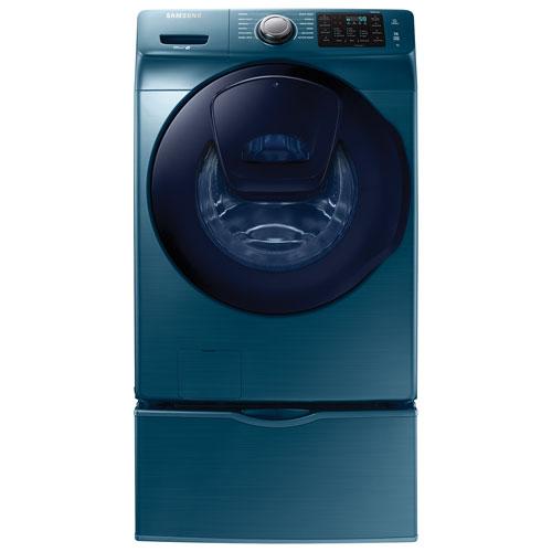 samsung 52 cu ft high efficiency front load washer wf45k6200az blue sapphire