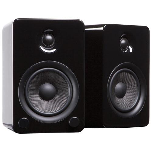 Haut-parleur d'étagère Bluetooth 80 W YU5 de Kanto - Noir brillant - Paire