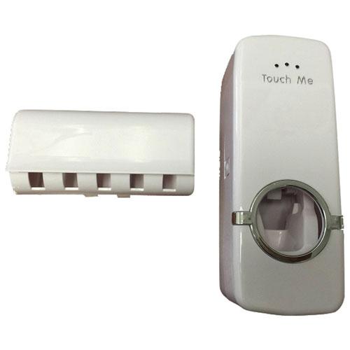 Distributeur de dentifrice automatique avec porte-brosses à dents de Mmnox - Blanc