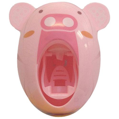 Mmnox Automatic Toothpaste Dispenser & Toothbrush Holder Set - Pink Pig