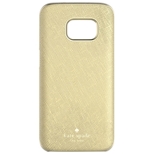 Étui souple ajusté en cuir de kate spade new york pour Galaxy S7 de Samsung - Doré