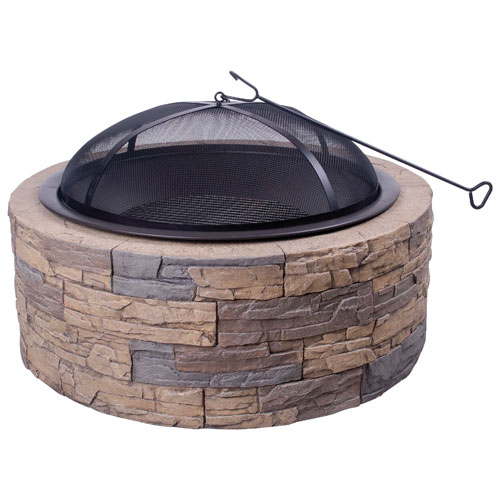 Shinerich Freestanding Wood Burning Fire Pit - Cast Stone