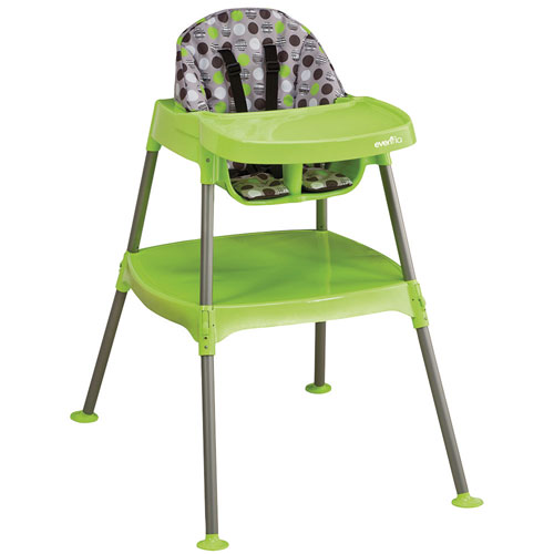 evenflo 3-in-1 convertible high chair - dottie lime : high chairs