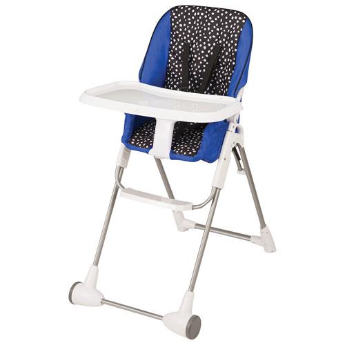 chaise haute hayden dot pliable plat avec plateau collection symmetry d 39 evenflo bleu noir. Black Bedroom Furniture Sets. Home Design Ideas