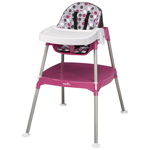 evenflo 3-in-1 convertible high chair - dottie rose : high chairs