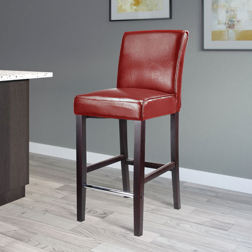 Outstanding Antonio Transitional Bar Height Barstool Red Ocoug Best Dining Table And Chair Ideas Images Ocougorg