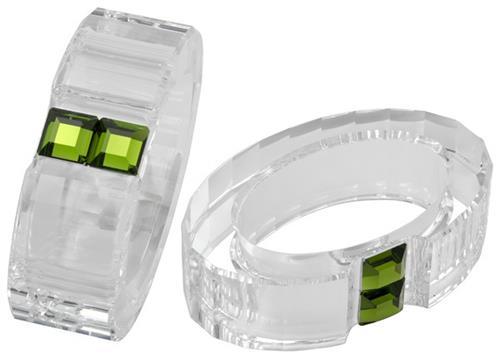 Swarovski Crystal Rainbow Napkin Rings Set Of 2 Olivine 276685