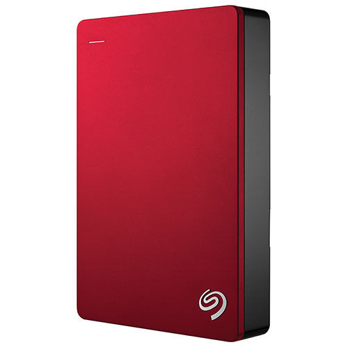"Seagate Backup Plus 4TB 2.5"" USB 3.0 Portable External Hard Drive (STDR4000902) - Red"