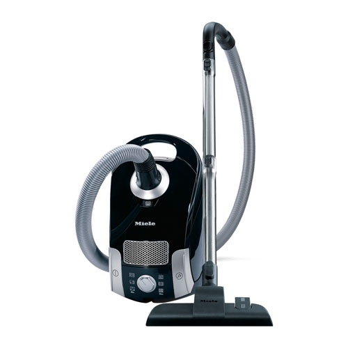 miele compact c1 canister vacuum obsidian black
